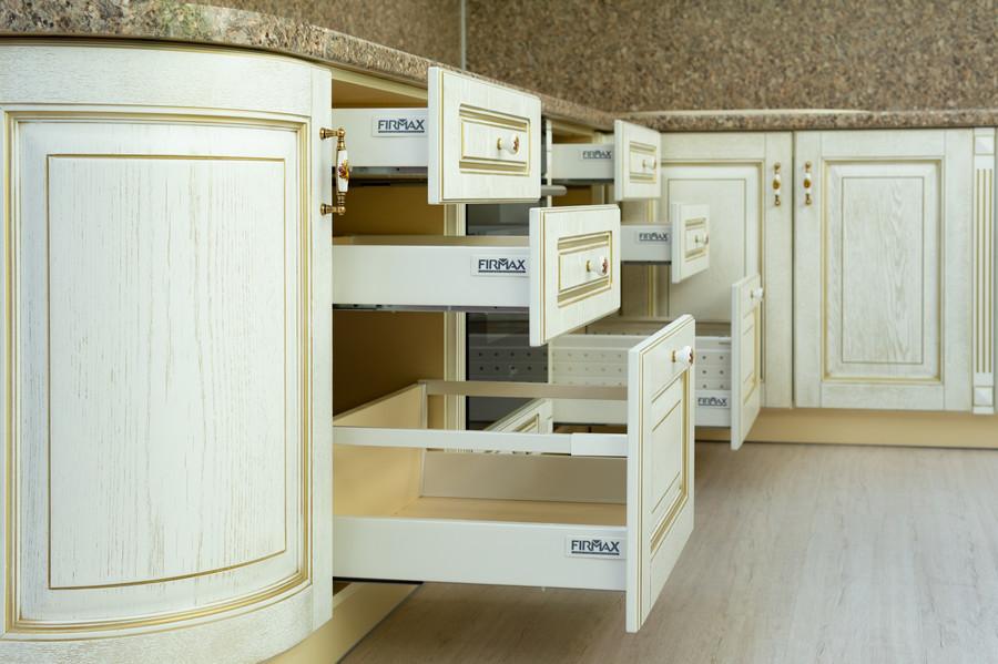 Бежевые кухни-Кухня МДФ в пластике «Модель 50»-фото6