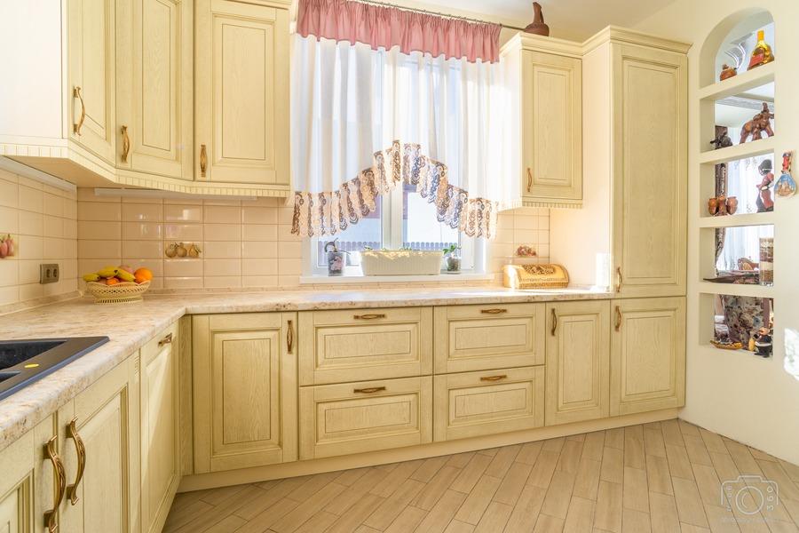 Бежевые кухни-Кухня из шпона «Модель 3»-фото6