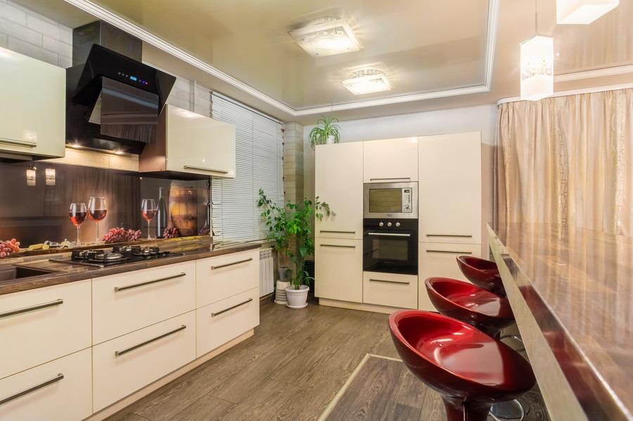 Бежевые кухни-Кухня из пластика «Модель 2»-фото1