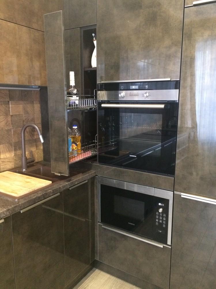 Акриловые кухни-Кухня из пластика «Модель 113»-фото3