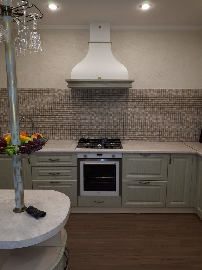 Белый кухонный гарнитур-Кухня «Модель 496»-фото1