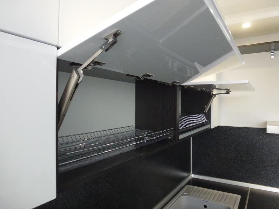 Белый кухонный гарнитур-Кухня МДФ в эмали «Модель 430»-фото4
