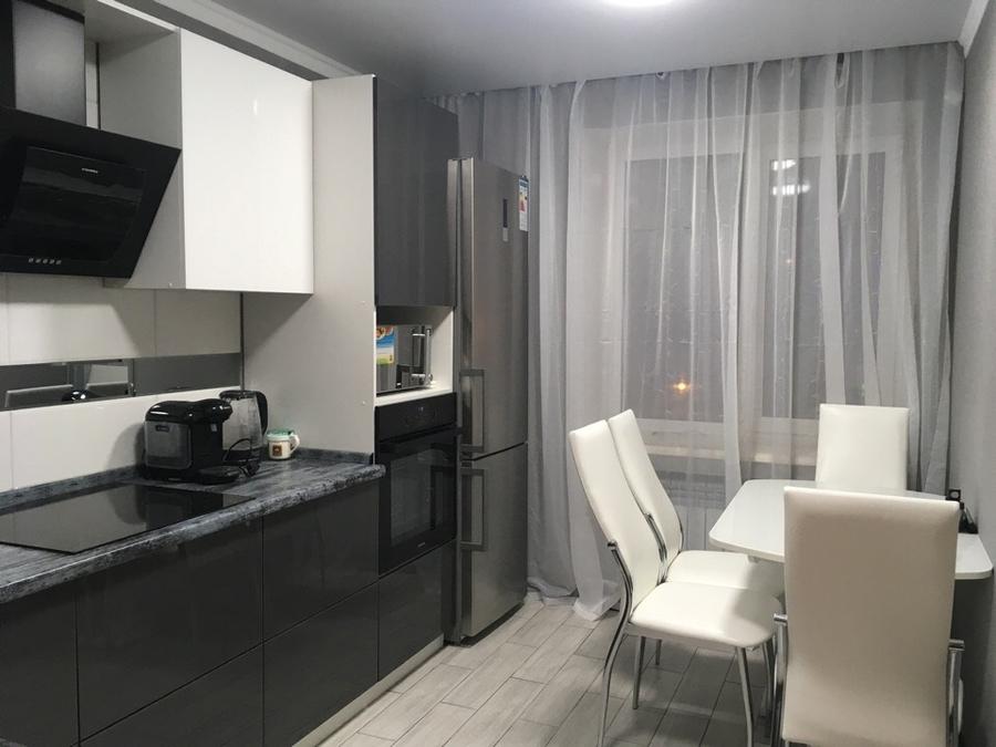 Белый кухонный гарнитур-Кухня из пластика «Модель 435»-фото1