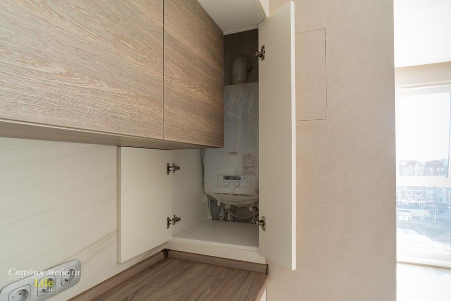 Белый кухонный гарнитур-Кухня из ЛДСП «Модель 424»-фото8