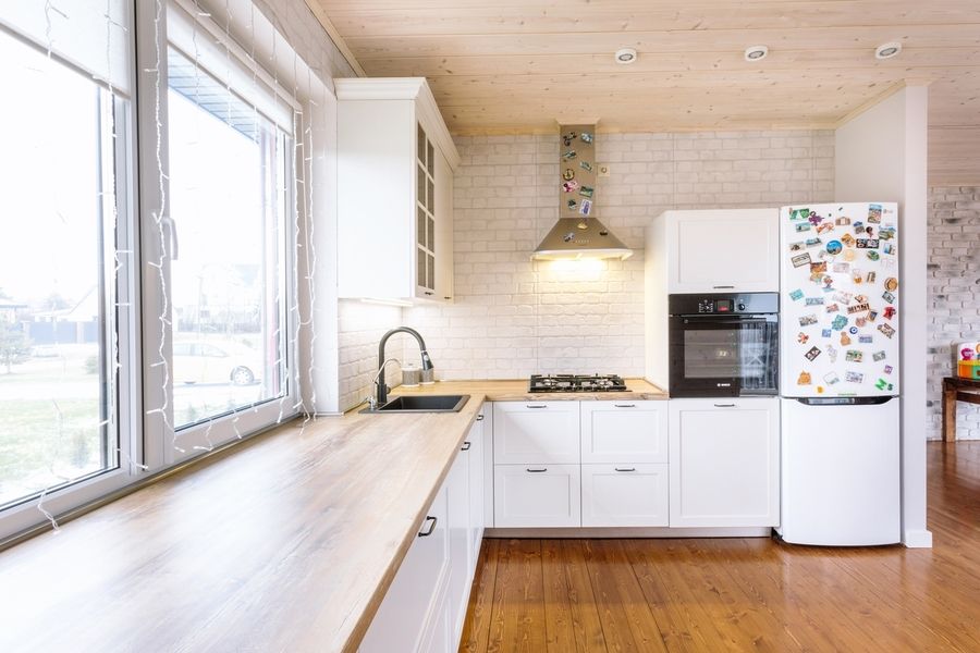 Белый кухонный гарнитур-Кухня МДФ в эмали «Модель 402»-фото2