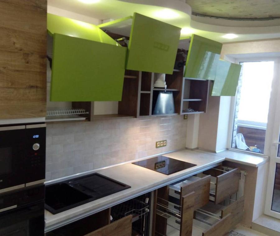 Встроенная кухня-Кухня из пластика «Модель 379»-фото5