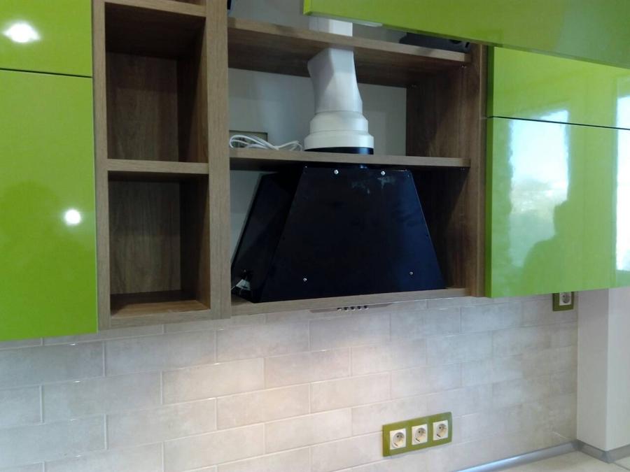 Встроенная кухня-Кухня из пластика «Модель 379»-фото3