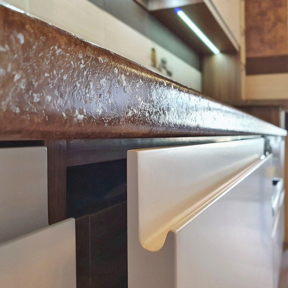 Белый кухонный гарнитур-Кухня МДФ в эмали «Модель 537»-фото9