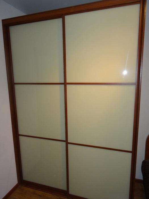 Двухдверный шкаф-купе-Шкаф-купе из стекла Лакобель «Модель 38»-фото2