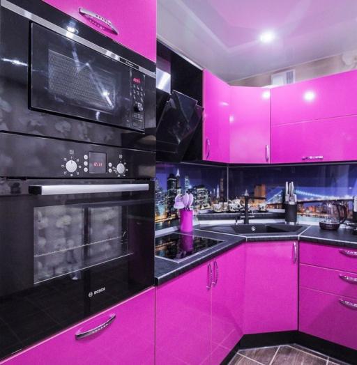 Акриловые кухни-Кухня МДФ в эмали «Модель 115»-фото8
