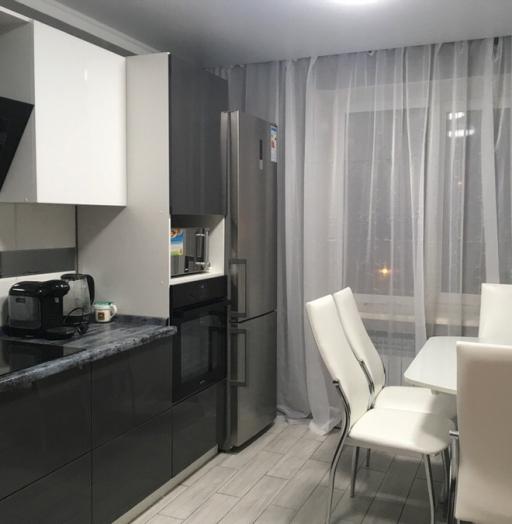 Белый кухонный гарнитур-Кухня из пластика «Модель 435»-фото2