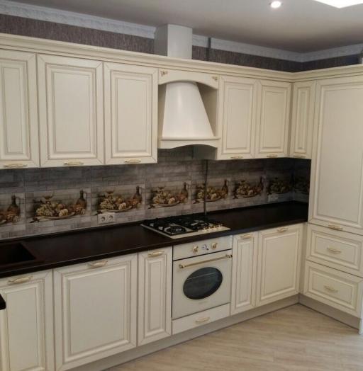 Бежевые кухни-Кухня МДФ в ПВХ «Модель 146»-фото7