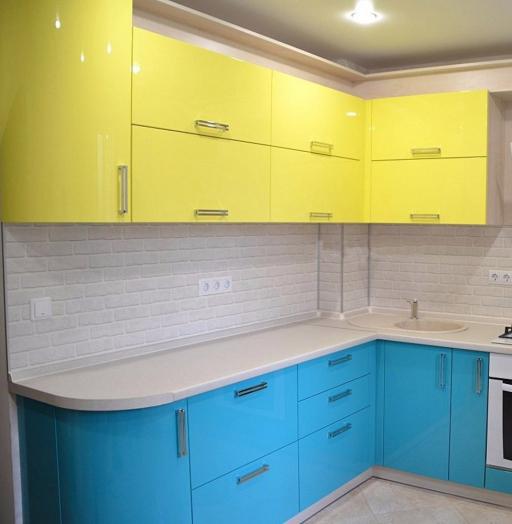 -Кухня МДФ в эмали «Модель 167»-фото3